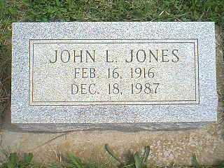 JONES, JOHN L. - Page County, Iowa | JOHN L. JONES
