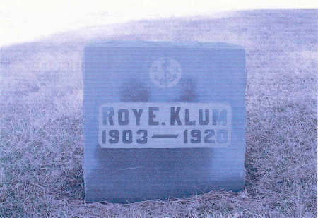 KLUM, ROY - Page County, Iowa | ROY KLUM