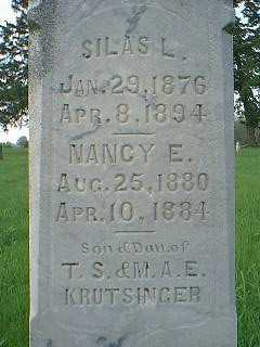 KRUTSINGER, NANCY E. - Page County, Iowa | NANCY E. KRUTSINGER