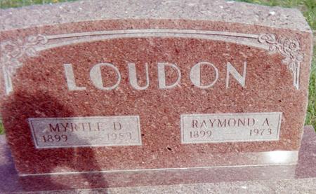 LOUDON, MYRTLE D. - Page County, Iowa | MYRTLE D. LOUDON