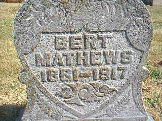 MATHEWS, BERT - Page County, Iowa | BERT MATHEWS