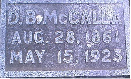 MCCALLA, D. B. - Page County, Iowa | D. B. MCCALLA