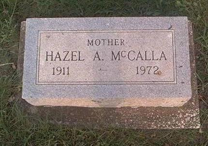 MCCALLA, HAZEL A - Page County, Iowa | HAZEL A MCCALLA