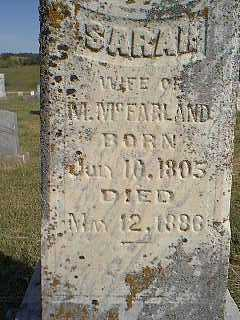 MCFARLAND, SARAH - Page County, Iowa | SARAH MCFARLAND