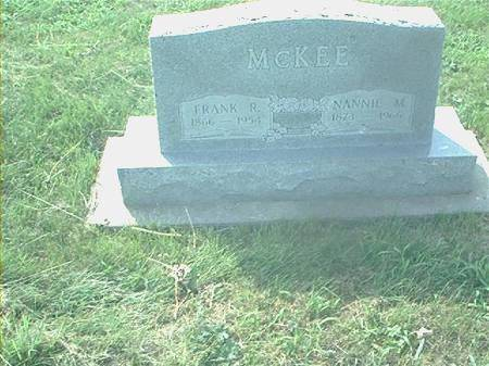 MCKEE, NANNIE M - Page County, Iowa | NANNIE M MCKEE