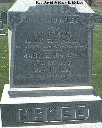 MCKEE, REVERAND DAVID - Page County, Iowa | REVERAND DAVID MCKEE