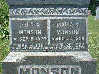 MONSON, JOHN P. - Page County, Iowa | JOHN P. MONSON