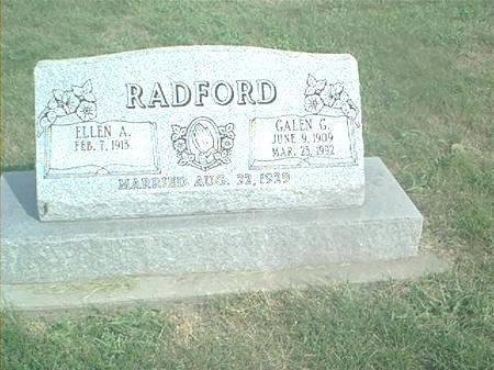 RADFORD, GALEN G - Page County, Iowa | GALEN G RADFORD