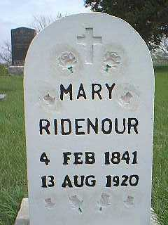 RIDENOUR, MARY - Page County, Iowa | MARY RIDENOUR