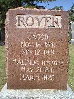 ROYER, MALINDA - Page County, Iowa | MALINDA ROYER