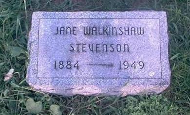 WALKINSHAW STEVENSON, JANE - Page County, Iowa | JANE WALKINSHAW STEVENSON