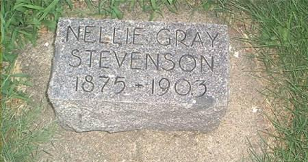 STEVENSON, NELLIE GRAY - Page County, Iowa | NELLIE GRAY STEVENSON