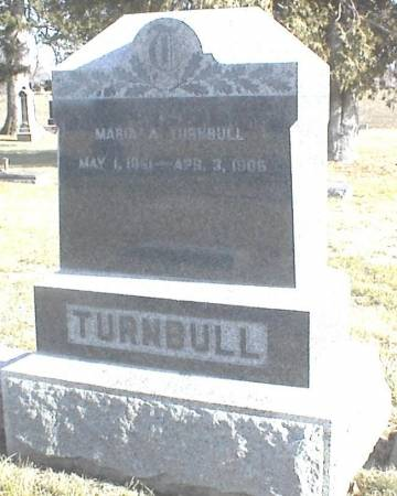 TURNBULL, MARIA A. - Page County, Iowa | MARIA A. TURNBULL