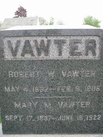 MORTON VAWTER, MARY - Page County, Iowa | MARY MORTON VAWTER