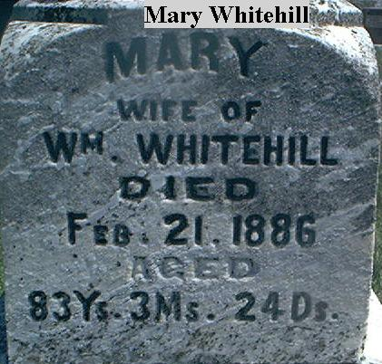 WHITEHILL, MARY - Page County, Iowa | MARY WHITEHILL