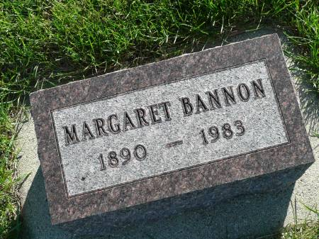 BANNON, MARGARET - Palo Alto County, Iowa   MARGARET BANNON