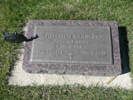BRADLEY, JOSEPH B - Palo Alto County, Iowa   JOSEPH B BRADLEY