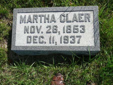 CLAER, MARTHA - Palo Alto County, Iowa | MARTHA CLAER