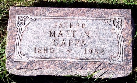 GAPPA, MATTHEW N - Palo Alto County, Iowa   MATTHEW N GAPPA