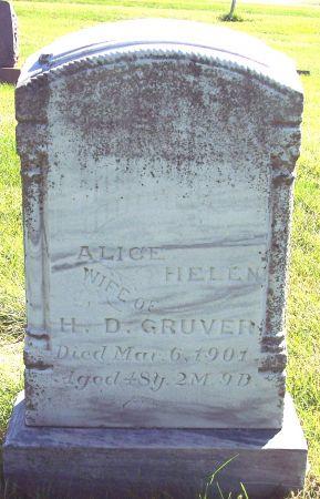 GUYER GRUVER, ALICE HELEN - Palo Alto County, Iowa | ALICE HELEN GUYER GRUVER