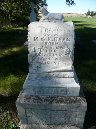 HAAG, FRANK - Palo Alto County, Iowa | FRANK HAAG