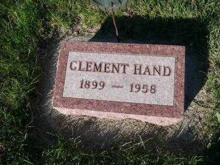 HAND, CLEMENT - Palo Alto County, Iowa   CLEMENT HAND