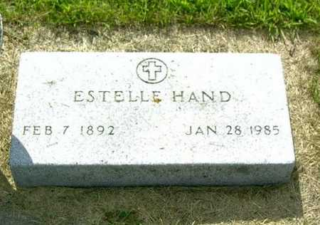 HAND, ESTELLE - Palo Alto County, Iowa | ESTELLE HAND
