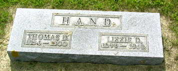 HAND, THOMAS D - Palo Alto County, Iowa | THOMAS D HAND