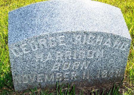 HARRISON, GEORGE RICHARD - Palo Alto County, Iowa | GEORGE RICHARD HARRISON