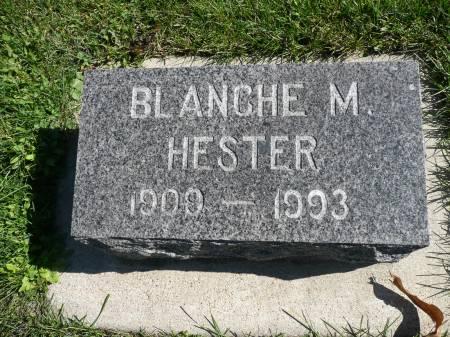 HESTER, BLANCHE M - Palo Alto County, Iowa | BLANCHE M HESTER