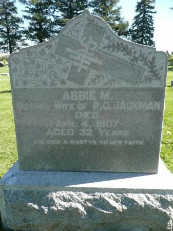 JACKMAN, ABBIE M - Palo Alto County, Iowa   ABBIE M JACKMAN