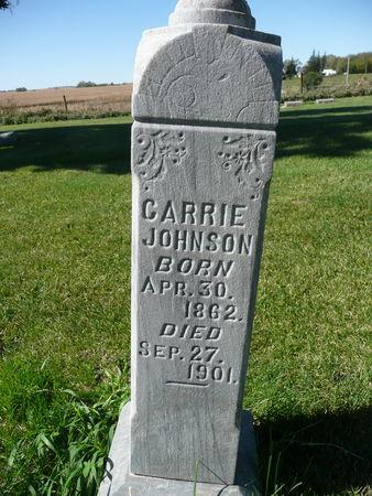 JOHNSON, CARRIE - Palo Alto County, Iowa   CARRIE JOHNSON