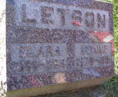 LETSON, CLARA - Palo Alto County, Iowa | CLARA LETSON