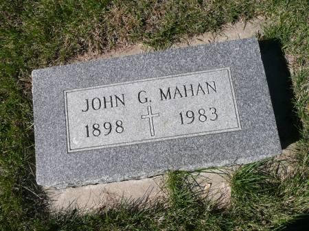 MAHAN, JOHN G - Palo Alto County, Iowa | JOHN G MAHAN