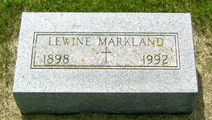 MARKLAND, LEWINE - Palo Alto County, Iowa | LEWINE MARKLAND
