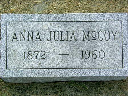 MCCOY, ANNA JULIA - Palo Alto County, Iowa   ANNA JULIA MCCOY