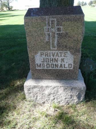 MCDONALD, JOHN K - Palo Alto County, Iowa | JOHN K MCDONALD