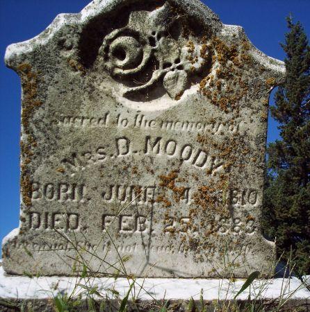 MOODY, MRS D - Palo Alto County, Iowa | MRS D MOODY