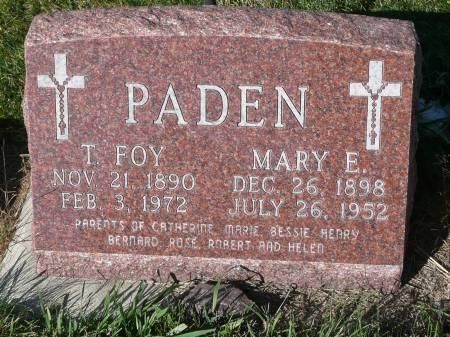 PADEN, MARY ELIZABETH - Palo Alto County, Iowa | MARY ELIZABETH PADEN