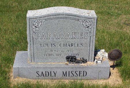 PAPADAKES, LOUIS CHARLES - Palo Alto County, Iowa   LOUIS CHARLES PAPADAKES