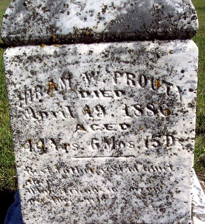 PROUTY, HIRAM WILLIAM - Palo Alto County, Iowa | HIRAM WILLIAM PROUTY
