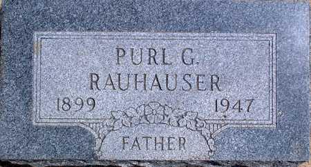 RAUHAUSER, PURL - Palo Alto County, Iowa   PURL RAUHAUSER