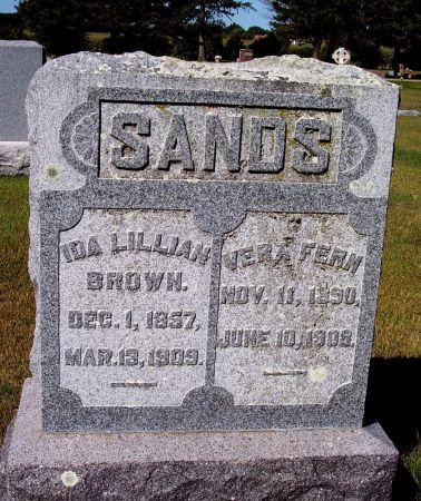 SANDS, IDA LILLIAN - Palo Alto County, Iowa | IDA LILLIAN SANDS