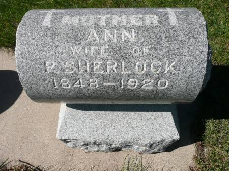 SHERLOCK, ANN - Palo Alto County, Iowa   ANN SHERLOCK