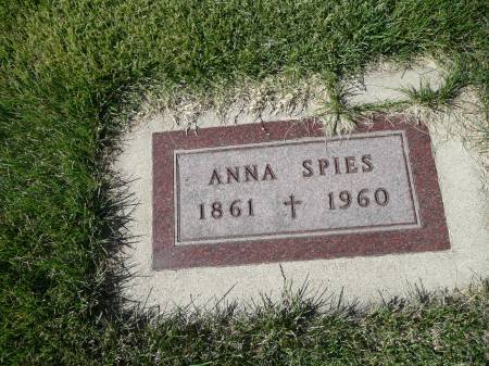 SPIES, ANNA - Palo Alto County, Iowa | ANNA SPIES