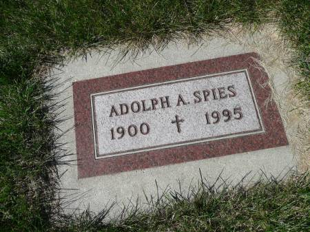 SPIES, ADOLPH A - Palo Alto County, Iowa | ADOLPH A SPIES