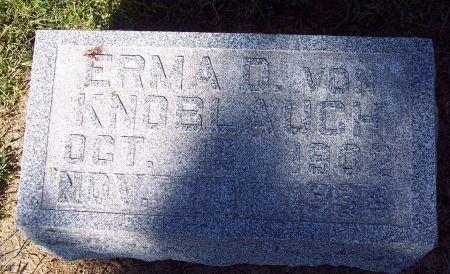 VON KNOBLAUCH, ERMA D - Palo Alto County, Iowa | ERMA D VON KNOBLAUCH