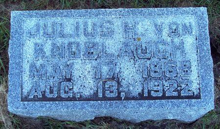 VON KNOBLAUCH, JULIUS HELMUTH - Palo Alto County, Iowa   JULIUS HELMUTH VON KNOBLAUCH