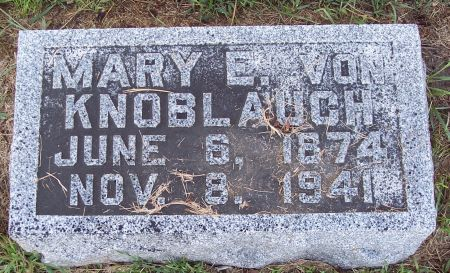 VON KNOBLAUCH, MARY EMMA - Palo Alto County, Iowa | MARY EMMA VON KNOBLAUCH