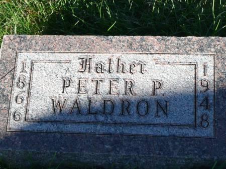 WALDRON, PETER P - Palo Alto County, Iowa | PETER P WALDRON